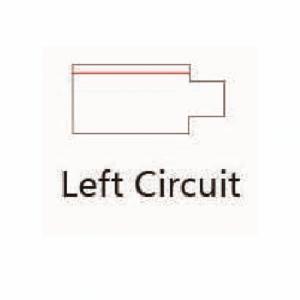 Led Railverlichting - Power connector - Links - Zwart