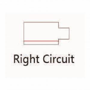 Led Railverlichting - Power connector - Rechts - Zwart