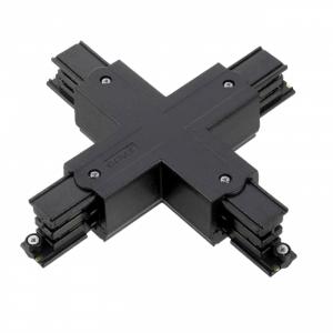 Led Railverlichting - Koppelstuk - X-vorm - Zwart